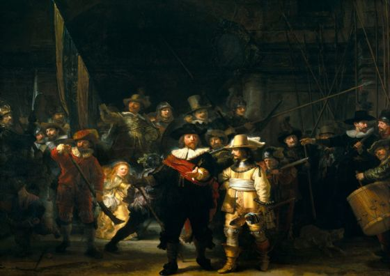 Rembrandt Harmensz van Rijn: The Night Watch. Fine Art Print/Poster. Sizes: A4/A3/A2/A1 (00552)